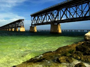 The beautiful bridge at Bahia Honda State Park