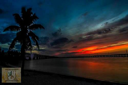Spectacular Rainbow Colored Sunset at Bahia Honda State Park