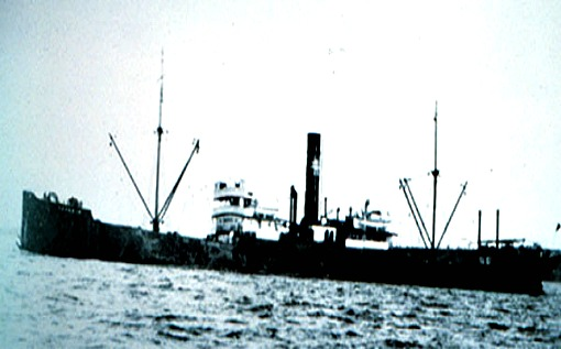 The Benwood at Sea