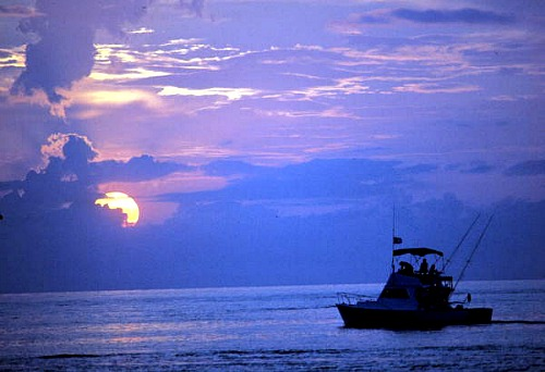 Boat Returning From A Day of Florida Keys Offshore Fishing