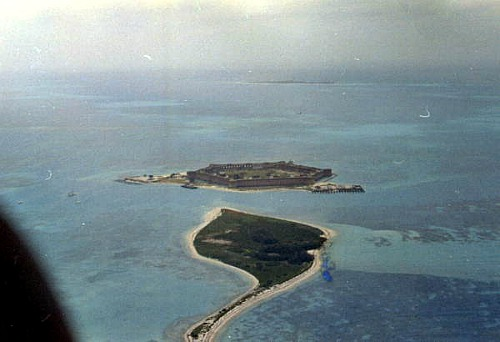Bush Key Looking Toward Fort Jefferson at Dry Tortugas National Park