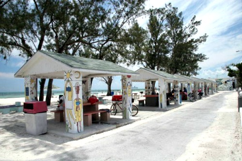 Cabanas at Higgs Beach in Key West