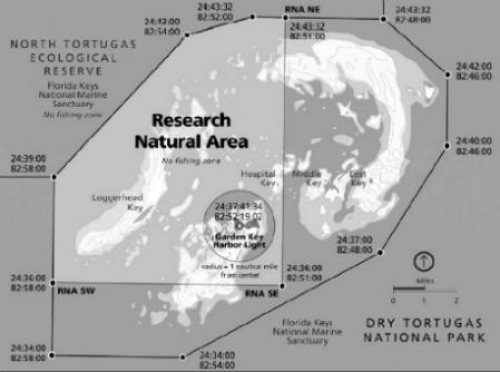 Fishing Maps Florida Keys Dry Tortugas National Park