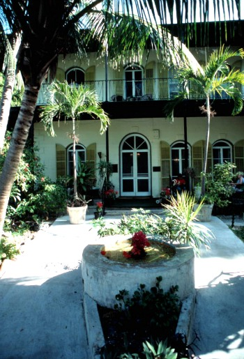 Entrance to Ernest Hemingway House, Key West FL