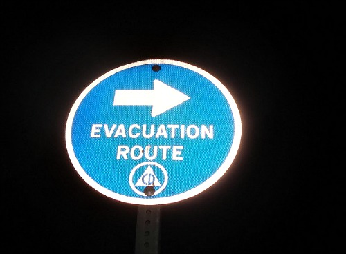 Hurricane Season Evacuation Sign