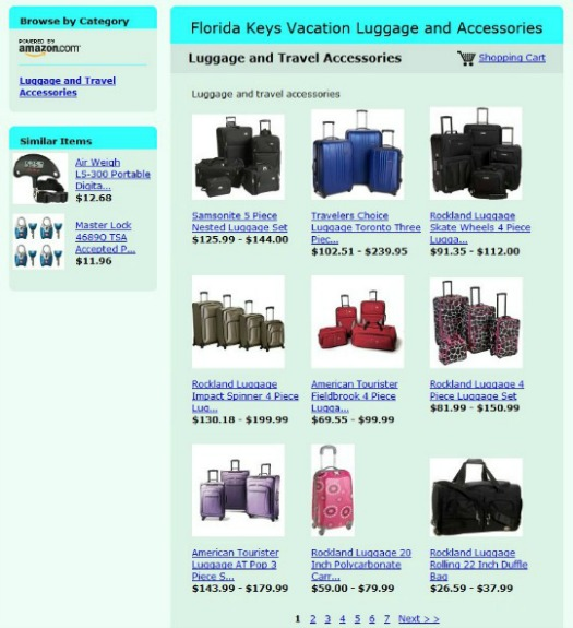 Florida Keys Vacation Luggage and Accessories Store