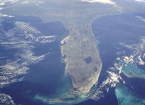 Florida Keys Water is Spectacular From Space