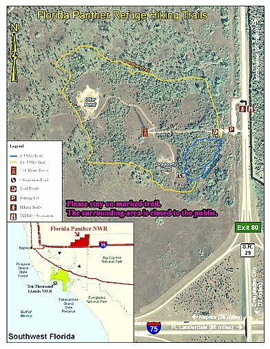 Florida Panther National Wildlife Refuge Map