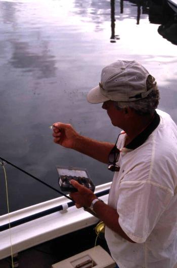 Fly fishing lures being used off Islamorada
