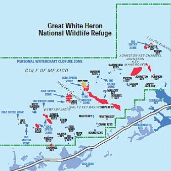Great White Heron National Wildlife Refuge is Predominantly Water