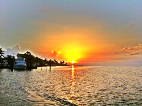 Getting Ready for Fishing at Sunrise in Islamorada Florida