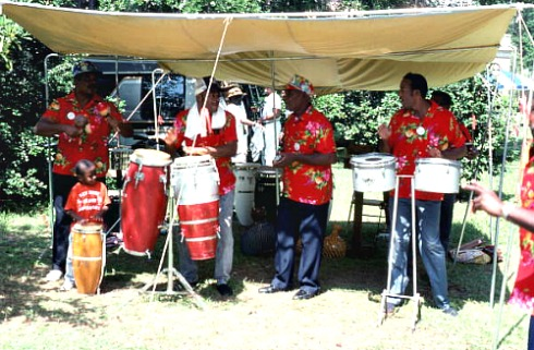 Goombay Junkanoo Playing Calypso Music