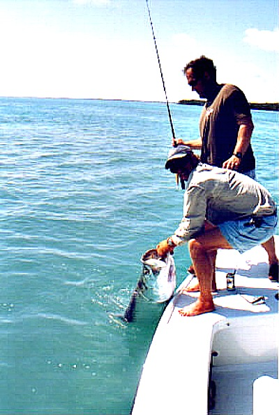 Fishing for tarpon off Key West