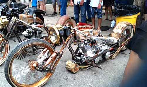 Lean and Mean Harley on Display at Peterson's Poker Run
