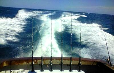 Making the short run out to the reef for sailfish