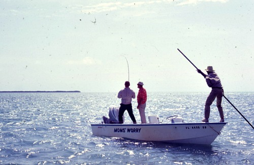 Pole fishing Florida Keys