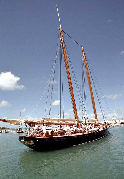 Schooner America Moored at Key West Bight Seaport and Harborwalk