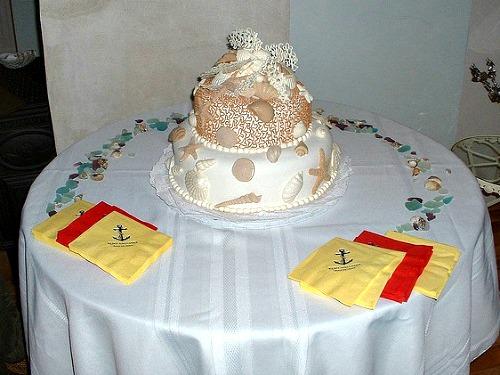 Beach Themed Wedding Cake is Perfect Choice for Beach Weddings