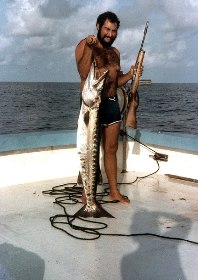 Shot Gun at the Ready When Bringing in the Barracuda