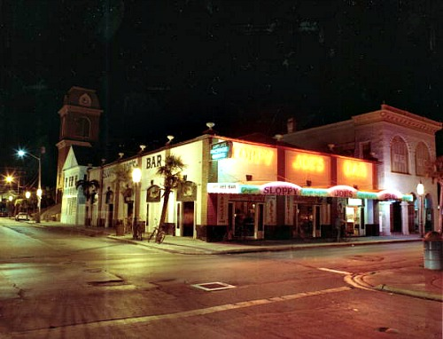 Sloppy Joes Key West at Night