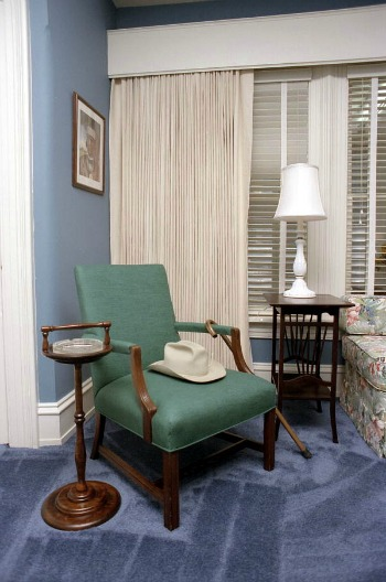 Replica of Truman's Hat and Cane at Truman Little White House