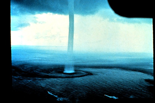 Waterspout Seen From the Air