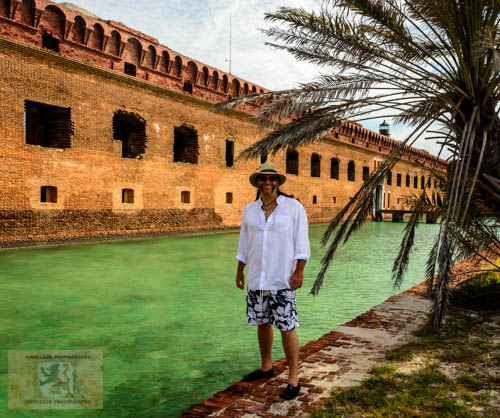 John Lack on Wedding Day at Dry Tortugas National Park