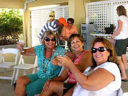 Guests Enjoying Wine School