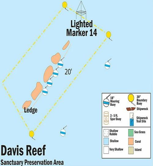 Davis Reef Map