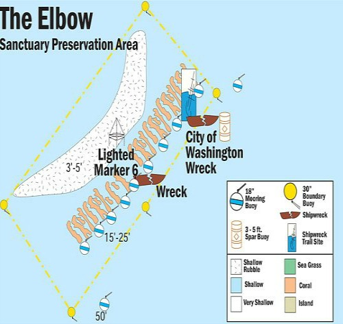 Elbow Reef Map
