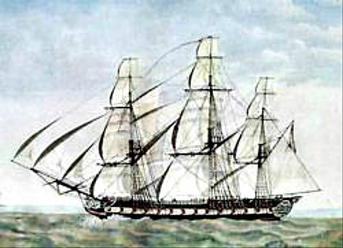 Drawing of the HMS Looe