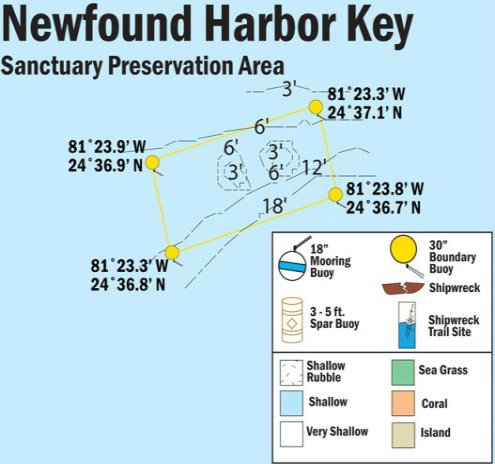 SPA Area Map of Newfound Harbor Keys