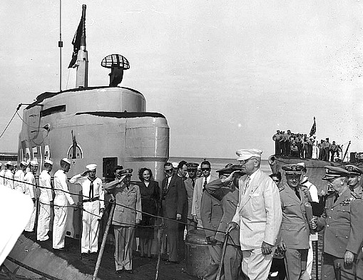 December 5, 1947, President Truman at Key West Harbor Aboard the U-2513