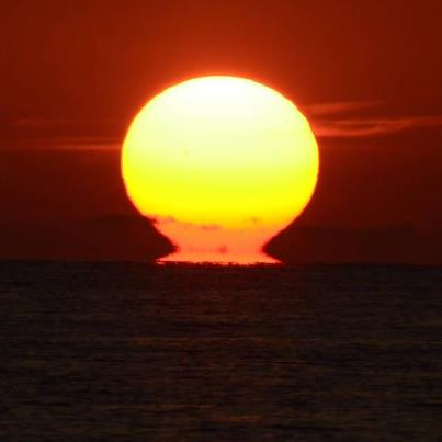 Sun Dips It's Head Into the Key West Ocean