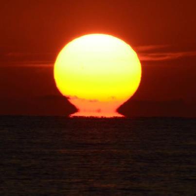 Sun Dips It's Head Into the Key West Ocean
