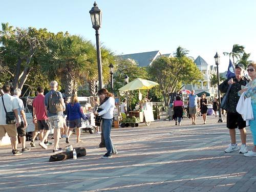 Musicians Entertain At Mallory Square Key West Sunset Celebration