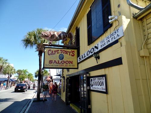 Exterior of the popular Captain Tony's Bar