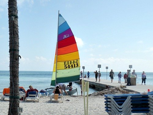 Catamaran for rent at South Beach in Key West FL