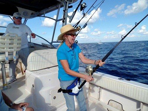 Cathy Sheehan Deep Sea Fishing For Blackfin Tuna on Marathon Hump