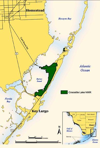 Crocodile Lake National Wildlife Refuge Map