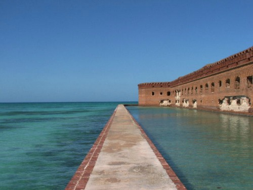 Moat and Ocean at Fort Jefferson Dry Tortugas National Park