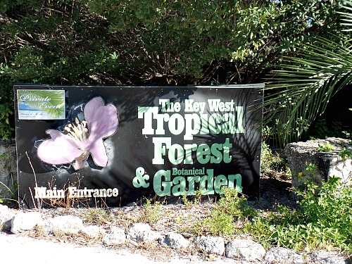 Entrance To Key West Tropical Forest and Botanical Garden