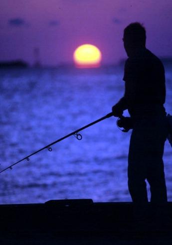 Florida Keys Fishing at Sunset