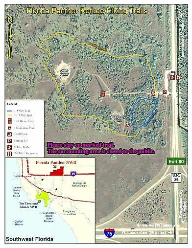 Florida Panther National Wildlife Refuge Map