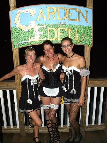 French Maids at Garden of Eden Bull and Whistle Bar