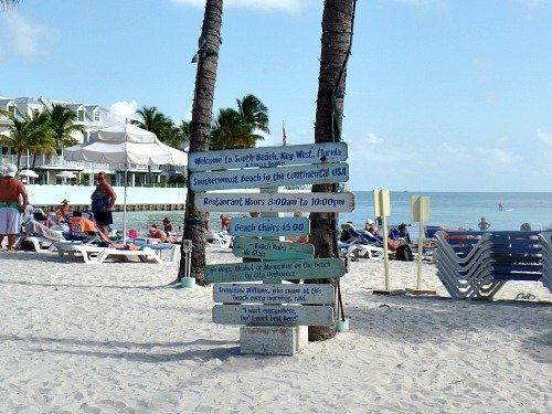 Fun Directional Arrows At South Beach In Key West