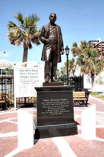 Henry Flagler Statute at Key West Bight Ferry Terminal