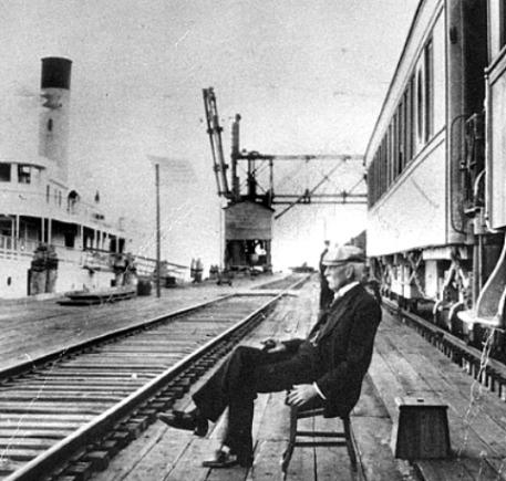 Henry Flagler at Knights Key Dock