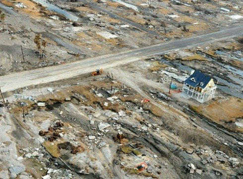 Hurricane Ike Severely Damaged Gilchrist Southeast of Houston, Texas