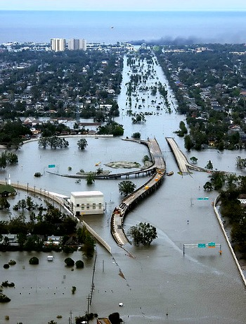 New Orleans Flooding Was Massive After Cat 3 Katrina